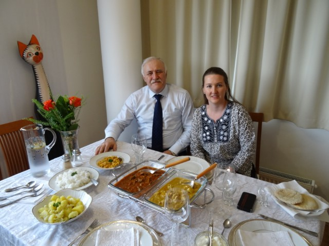 Snapshot from a kind invitation of my Friend Jan Krozek and his wife Paulina. An innovative start of the year with delicious dishes cerafully prepared  and served by Paulina.